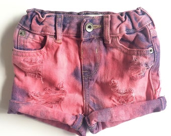 Berry Dream shorts- distressed denim- baby- toddler