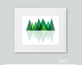 """Mountain Scape Print: 8x10"""""""