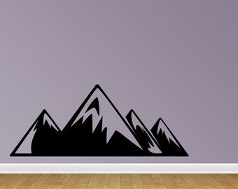 Snow Mountains Wall Decal Mountains Nursery Wall Sticker Children Room Mountains Wall Decor (J702)