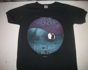 STEVIE WONDER tour t shirt 1986 In Square Circle