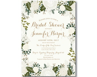 Bridal Shower Invitation, Wedding Shower Invitation, Bridal Shower Invites, Shower Invitation, Bridal Shower, Rustic Wedding #CL120