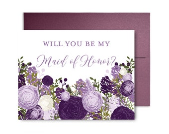 Will You Be My Bridesmaid Card, Bridesmaid Cards, Ask Bridesmaid, Bridesmaid Maid of Honor Gift, Matron of Honor, Flower Girl #CL147