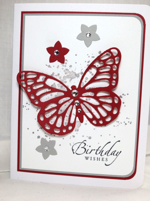 handmade birthday card stampin up happy birthday butterfly