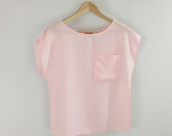 Pink 80s Sleeveless Light Top