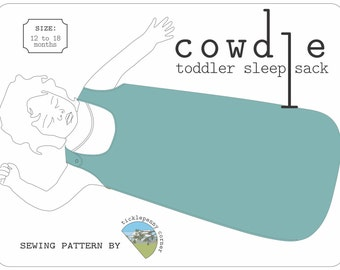 Cowdle Toddler Sleep Sack Pattern- 12 to 18 months