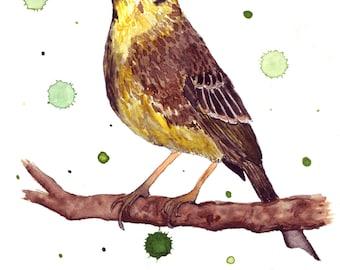 Watercolor of yellowhammer ORIGINAL