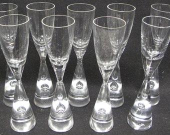 Set of 9 HOLMEGAARD PRINCESS MCM Danish Modern Denmark Shot Glasses