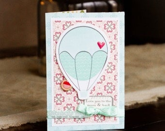 Love Romance Valentine's Day Card - Love You To The Moon & Back