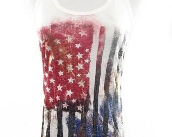American Stars and Stripes Tank Top (WTAO725)