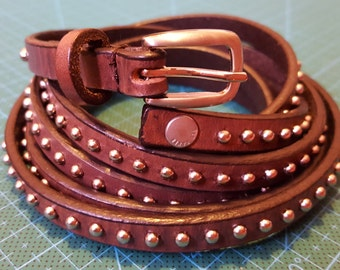 Women's slim Leather belt strap romantic clothing accessories.
