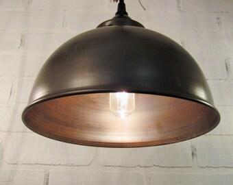 Metal Dome Pendant Lighting -lighting,  pendant light, farmhouse, kitchen lighting, rustic lighting, ceiling light, rustic chandelier
