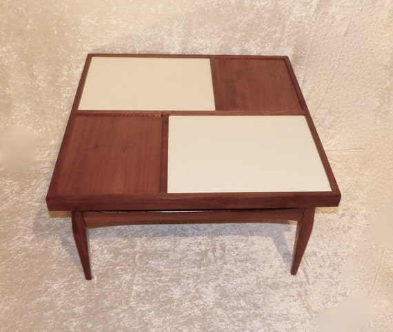Mcm Small Coffee Table Vintage Laminate Wood
