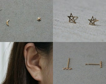 SINGLE ORDER - 10K Gold stud earrings ( 29 Usd / pair )