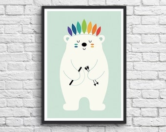 Art-Poster 50 x 70 cm - Indian polar bear