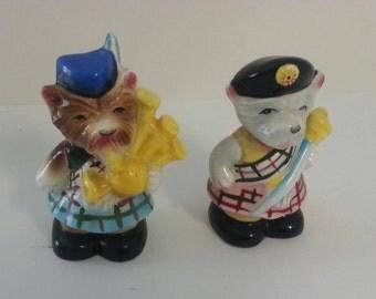 Vintage PY Japan Scottie Dog/ Scottish Terrier  Salt and Pepper Shaker