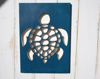 Wood Turtle Wall Art, Home Decor