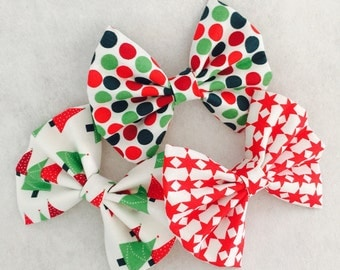 New Christmas hair bows (collection #2)