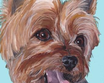 Yorke art print from original Yorkshire terrier painting