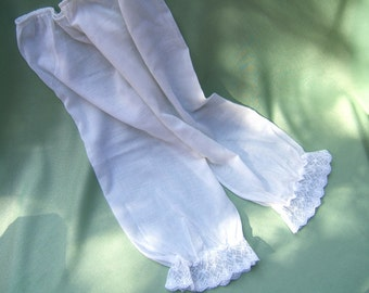 Vintage Bloomers | Lingerie | Cotton and Lace Underwear | Pant Slip | Victorian, Edwardian Style