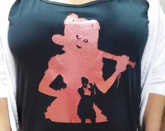 Arkham Asylum Harley Quinn Silhouette T-Shirt
