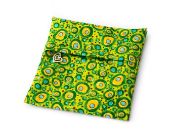 Cloth Pads Wetbag - Green Circles