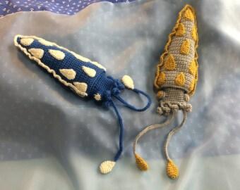 Rainy Polka Dot Squid Amigurumi Pattern