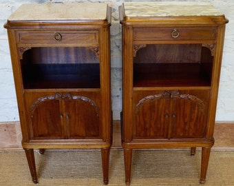 Pair of Antique French Louis XVI Night Stands