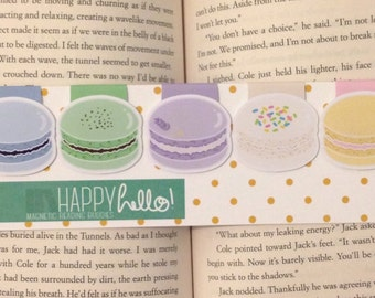 Magnetic Bookmarks • Macarons