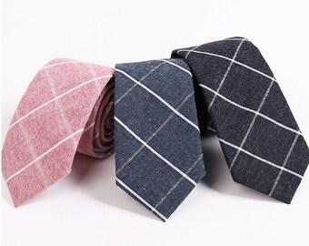 Linen Ties.Mens Linen Neckties.Skinny Ties.Wedding Slim Ties.