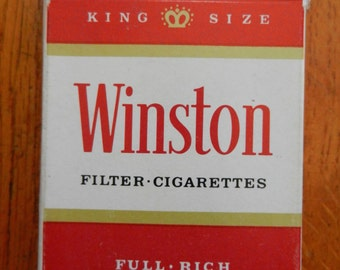 Vintage 70's Winston Cigarette Sealed Playing Card Deck