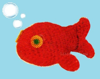 Crochet TOY Pattern Vintage 60s Crochet Fish Pattern Crochet Pudgy Whale Pattern Crochet Baby Toy Pattern Crochet Nemo Pattern