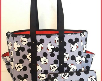 Mickey Mouse Diaper bag. Tote. Matching wipe case. Boy or girl.