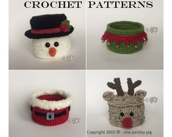 CROCHET PATTERNS - Christmas Basket / Bowl Collection - Instant PDF Download