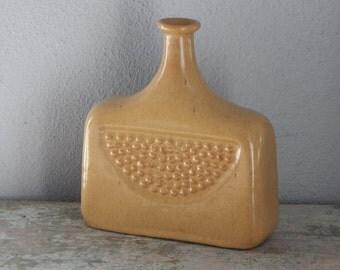 Soviet Vintage Ceramic Bottle/ vase Relief Surface Vase, Made in USSR