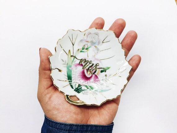 Vintage Ring Dish | Floral Ring Dish | Vintage Floral Tea Set
