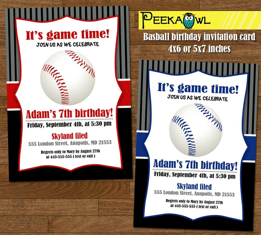 Free Printable Birthday Cards Baseball
