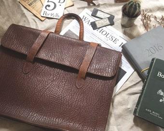 Vintage Leather School Satchel (4 available)