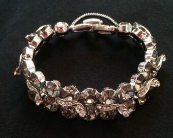 Weiss Smokey Gray Rhinestone Bracelet