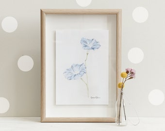 Botanical Print Of A Morning Glory | Limited Edition of 20 Giclee Art Prints