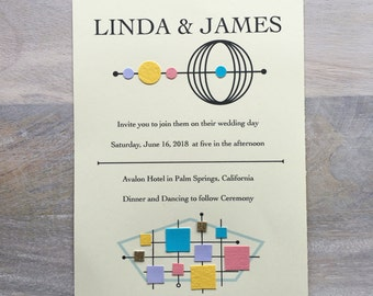 Mid-Century Modern Wedding Invitation