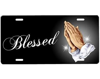 Praying Hands License Plate