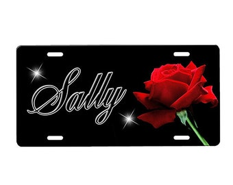 Rose License Plate