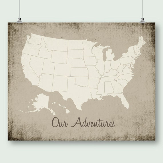 United States Map Push Pin Print Download Large Usa Map Distressed Rustic Wall Art Decor Jpg Printable Digital Poster Instant Download Pdf