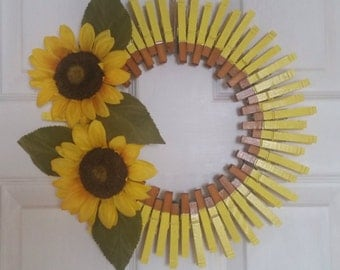 Sun flower wreath