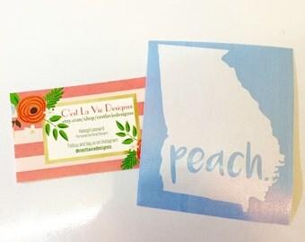 Georgia Peach Decal Sticker