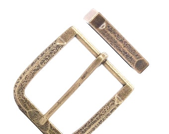 "Buckle and Keeper Set Old World Antique Brass 1-1/2"" 1648-09"