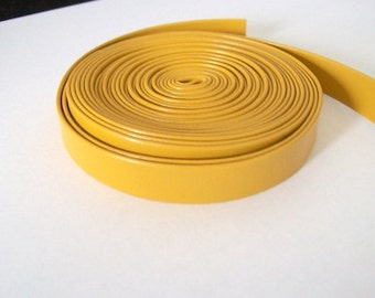 leather strap faux 10mm yellow leatherette trimmings yellow PU trim