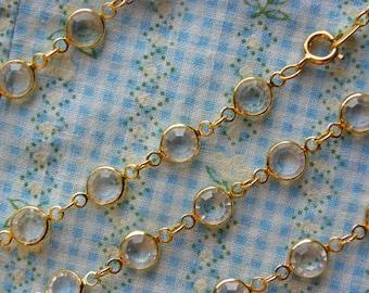 Vintage • Classy False Diamond Chain Necklace | Jewelry A million diamonds | Made in USA