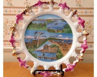 Lake Tahoe ceramic souvenir plate