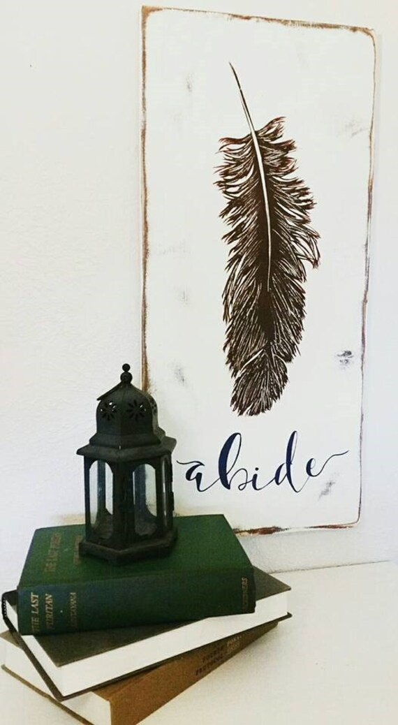 Feather Wood Sign {customizable}